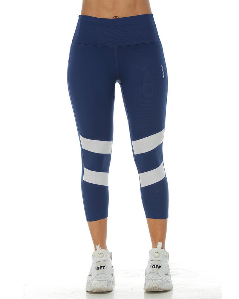 62d4b75d29358 Licra 3 4 Deportiva color azul oscuro para mujer - racketball movil
