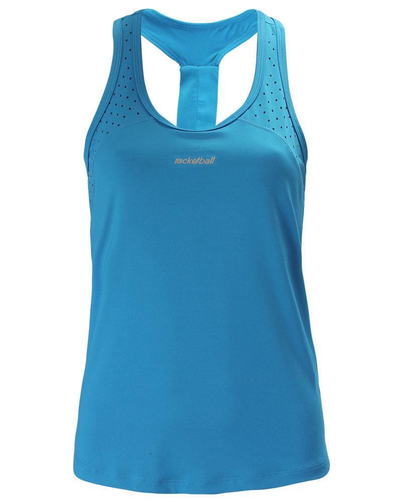e087bf7e2a62b camiseta esqueleto corte transpirable turquesa para mujer Camisetas Racketball 7701650703183 1.  ...