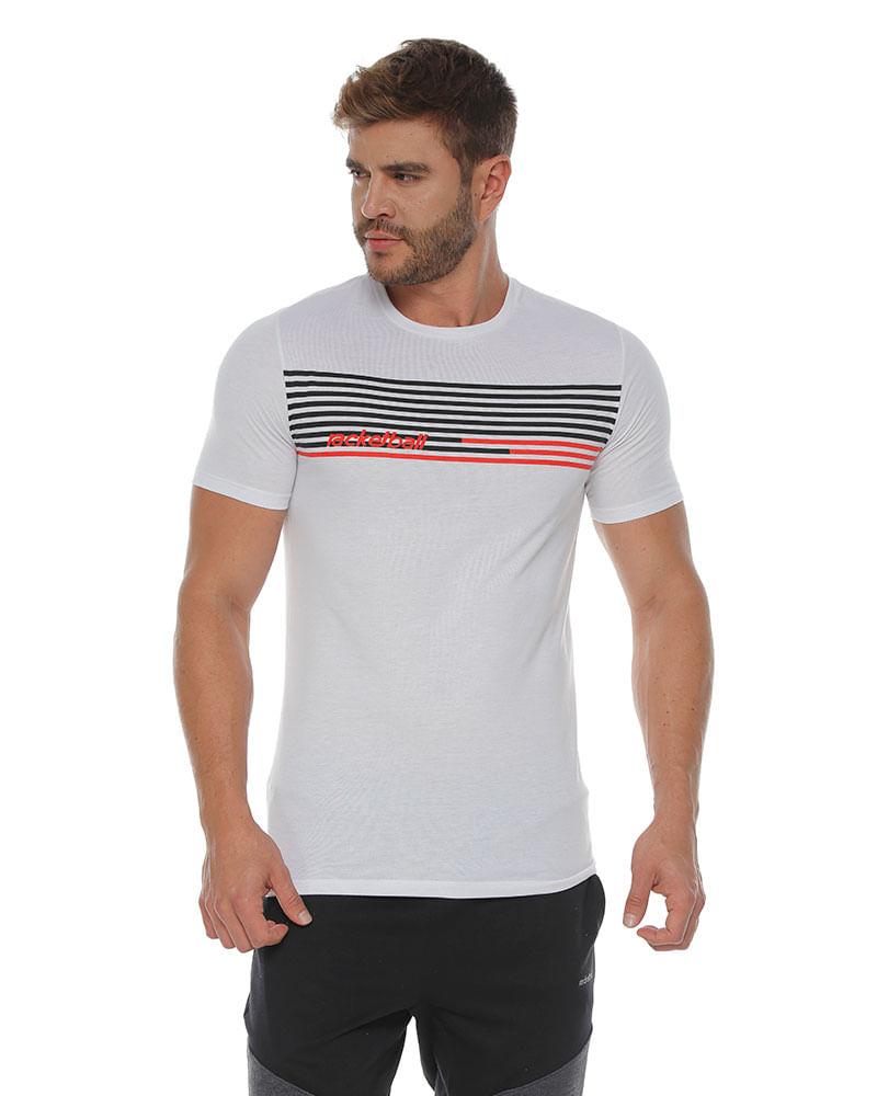 10bb4cf818 camiseta cuello redondo estampado rayas blanco para hombre Camisetas Racketball 7701650731735 1.  ...