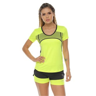 Camiseta-manga-corta-sublimada-en-frente-verde-lima-para-mujer