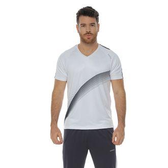 Camiseta-Deportiva-manga-corta-blanco-para-hombre