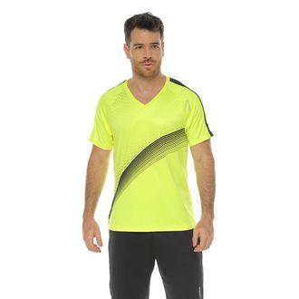 Camiseta-Deportiva-manga-corta-verde-lima-para-hombre