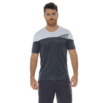 Camiseta-Deportiva-manga-corta-gris-oscuro-para-hombre