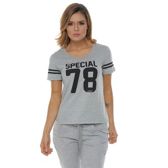 Camiseta-Manga-Corta-estampada-gris-jaspe-para-mujer