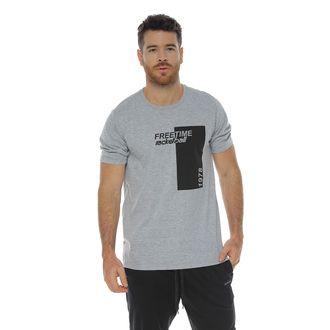 Camiseta-Manga-Corta-cuello-redondo-gris-jaspe-para-hombre