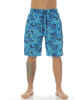Pantaloneta-de-Baño-Sublimada-flores-verde-para-hombre