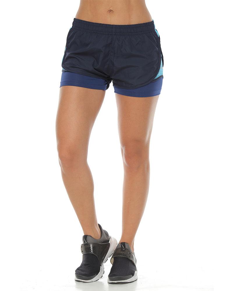 conseguir baratas selección asombrosa varios estilos Pantaloneta Running con Fit interior azul oscuro para mujer ...