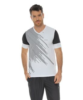 Camiseta-Manga-Corta-con-frente-estampado-blanco-para-hombre