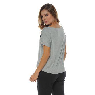 Camiseta-Manga-Corta-silueta-amplia-gris-jaspe-para-mujer