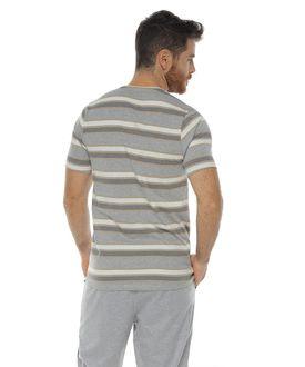 Camiseta-Manga-corta-con-cuello-redondo-color-kaki-para-hombre