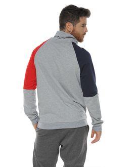 Buzo-estampado-con-cortes-en-contraste-gris-jaspe-para-hombre