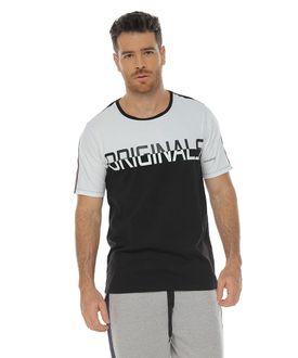 Camiseta-manga-corta-estampada-negro-para-hombre