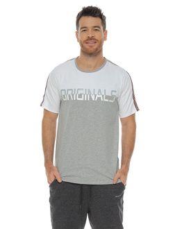 Camiseta-manga-corta-estampada-gris-jaspe-para-hombre