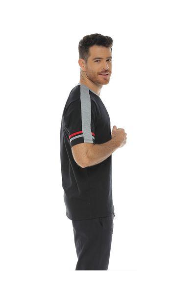 Camiseta-Cuello-redondo-color-negro-para-hombre