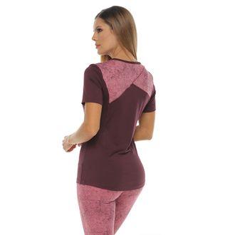 Camiseta-Deportiva-manga-corta-color-berenjena-para-mujer