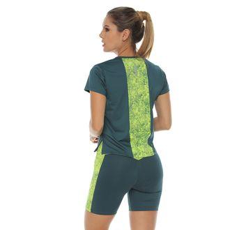 Camiseta-Deportiva-manga-corta-color-verde-para-mujer