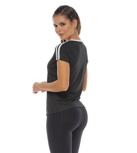 Camiseta-Basica-deportiva-color-negro-para-mujer---S