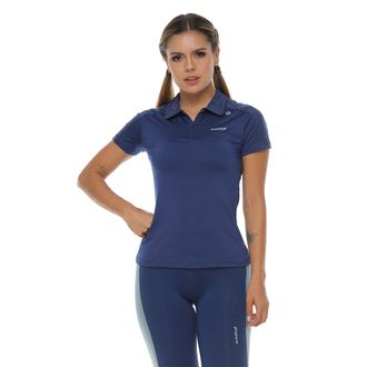 Camiseta-Deportiva-polo-color-azul-oscuro-para-mujer