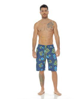 Pantaloneta-de-Baño-Sublimada-flores-verdes-para-hombre