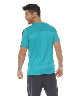 Camiseta-Deportiva-manga-corta-color-jade-para-hombre