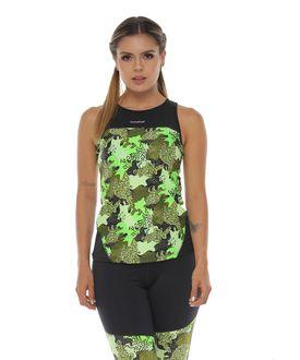 Camiseta-Deportiva-Esqueleto-color-negro-verde-para-mujer