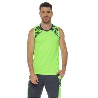 Camiseta-Deportiva-Esqueleto-color-verde-manzana-para-hombre