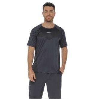 Camiseta-Deportiva-manga-corta-color-gris-oscuro-para-hombre