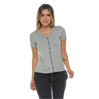Camiseta-manga-corta-color-gris-jaspe-para-mujer