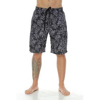Pantaloneta-de-Baño-Sublimada-flores-negras-para-hombre