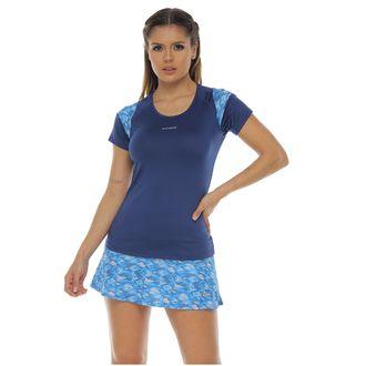 Camiseta-Deportiva-manga-corta-color-azul-oscuro-para-mujer
