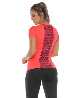Camiseta-Deportiva-manga-corta-color-fucsia-neon-para-mujer
