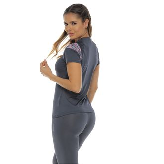 Camiseta-Deportiva-manga-corta-color-gris-oscuro-para-mujer