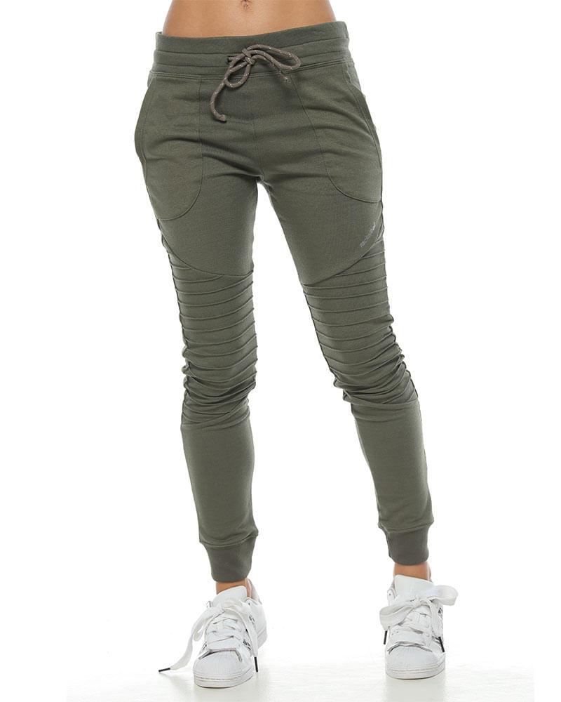 Pantalon Jogger Color Verde Para Mujer Racketball Movil